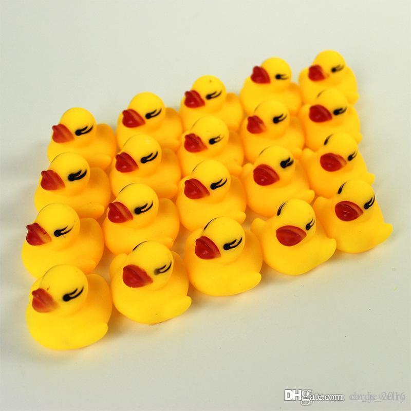 Baby Badespielzeug Sound Rassel Kinder Kleinkind Mini Gummiente Schwimmen Baden Geschenke Rennen Quietschende Ente Schwimmbad Spaß Spielen Spielzeug
