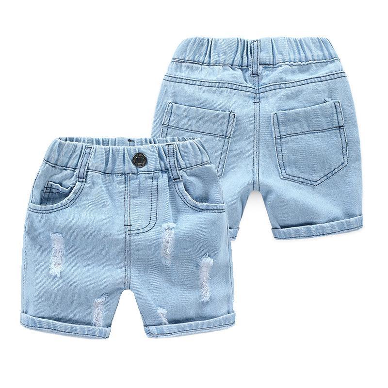 Junge Denim Jeans Shorts Sommer-Baby-beiläufiger Strand zerrissene Hosen-Kind-Cowboy Freizeit-Kleidung Kleinkind-Hosen Kinder Kleidung