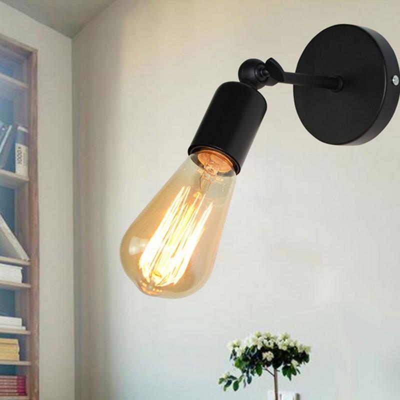 Simplemente retro estilo de Hierro Negro Lámpara de pared LED Moderno Estudio Loft Industrial Escaleras pared Iluminación