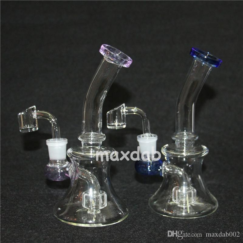 Verkauf Glas Becher Dab Rig Bong berauschende Bongs Mini Wasserpfeife dicke Ölplattformen Wachs rauchen Shisha Bowl Bubbler Wabenpfeifen Dab Rigs