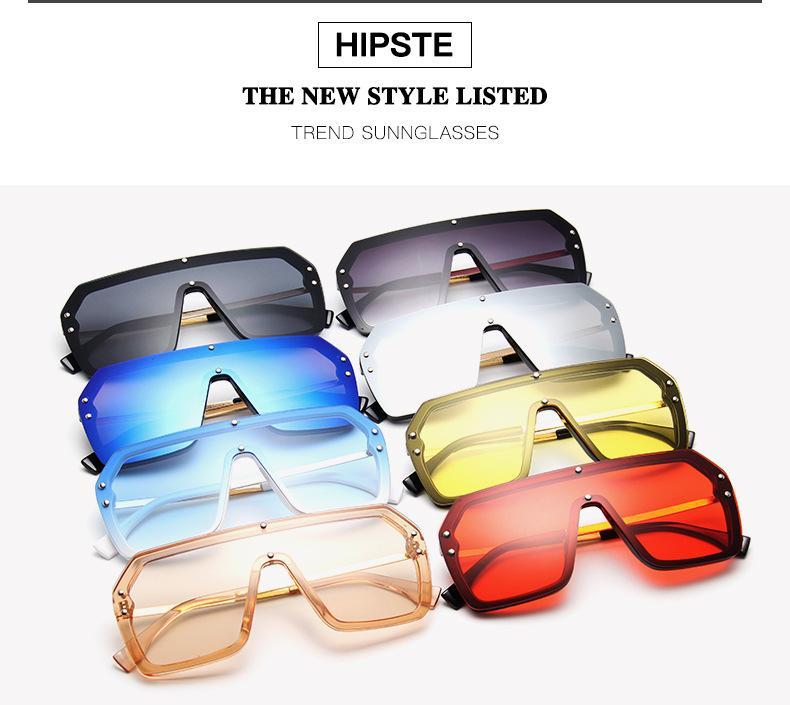 occhiali da sole Occhiali da sole oversize donne da sole siamesi di personalità occhiali da sole fresco colorato partita di moda