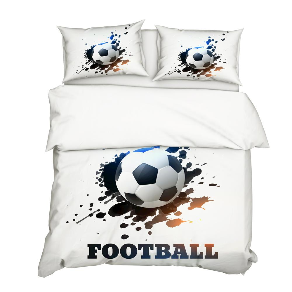 DropShipping 3D Football Bedding Set Print Duvet cover set Bedclothes with pillowcase bed Boy Gife N0010 Queen Single Size