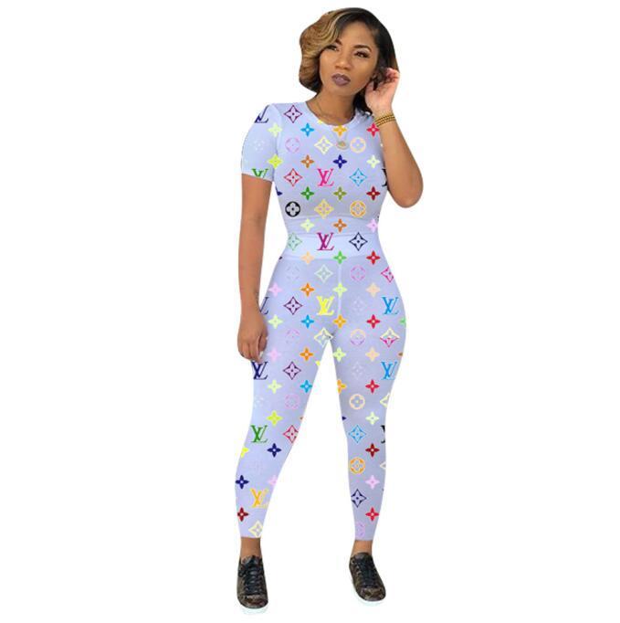 CC99 ropa de las mujeres de dos piezas conjuntos de ropa interior de las nuevas mujeres Conjunto de 2 piezas de alta Conjunto de la mujer de la cintura impresión digital sujetador de las mujeres traje de pista