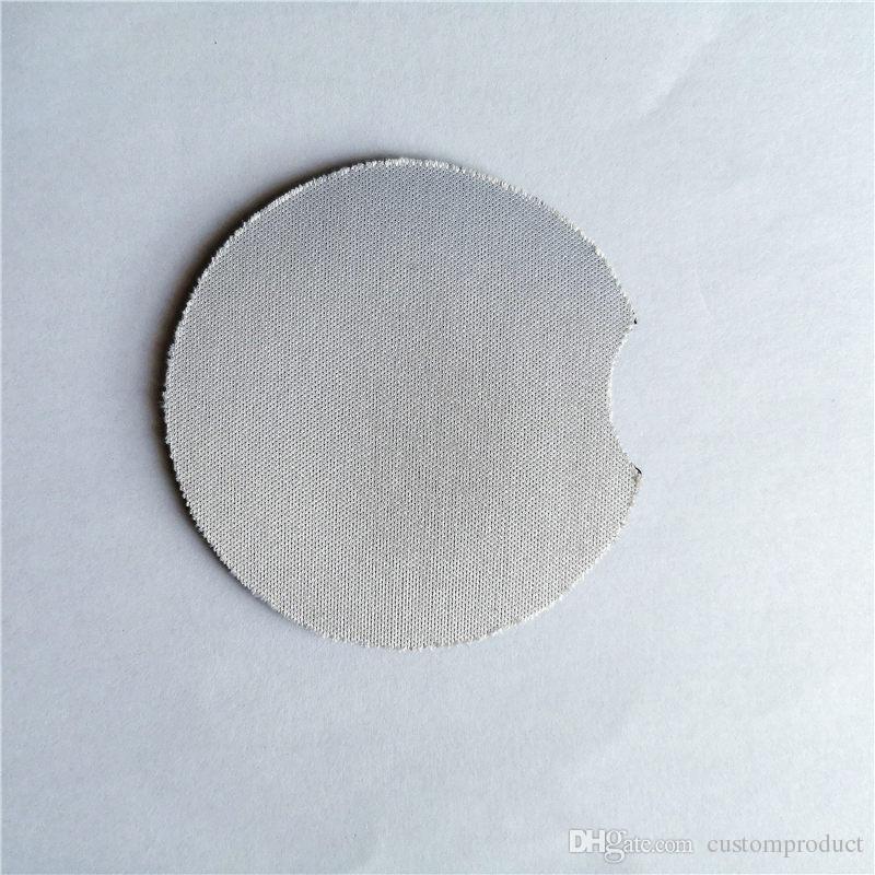 nuovo arrivo sublimazione gomma neoprene blank coasters stampa a trasferimento termico in neoprene stuoia consumabili