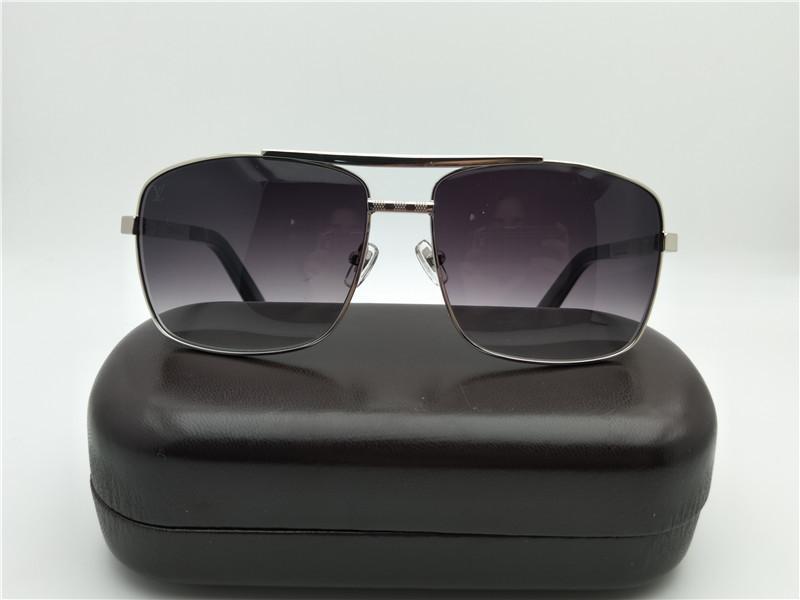 Lüks-Erkekler Tutum Gümüş Gri Güneş Gözlüğü Güneş Gözlükleri Z0259U Açık Sürüş Spor Güneş Gözlüğü Gözlük Kutusu ile Yeni