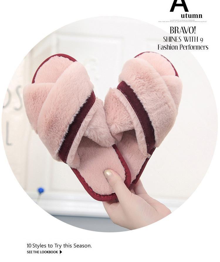 2018 sonbahar ve kış yeni bayan ayakkabıları kapalı terlik rahat düz ayakkabılar yatak odası sessiz terlik sıcak terlik