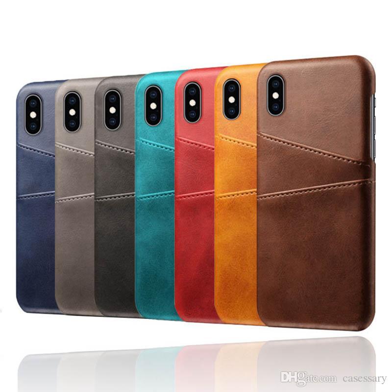Premium Wallet Case com Card Slots de Couro de Alta Qualidade para iPhone XR XS Max Samsung S10 Plus J2 J5 Pro Huawei Mate 20