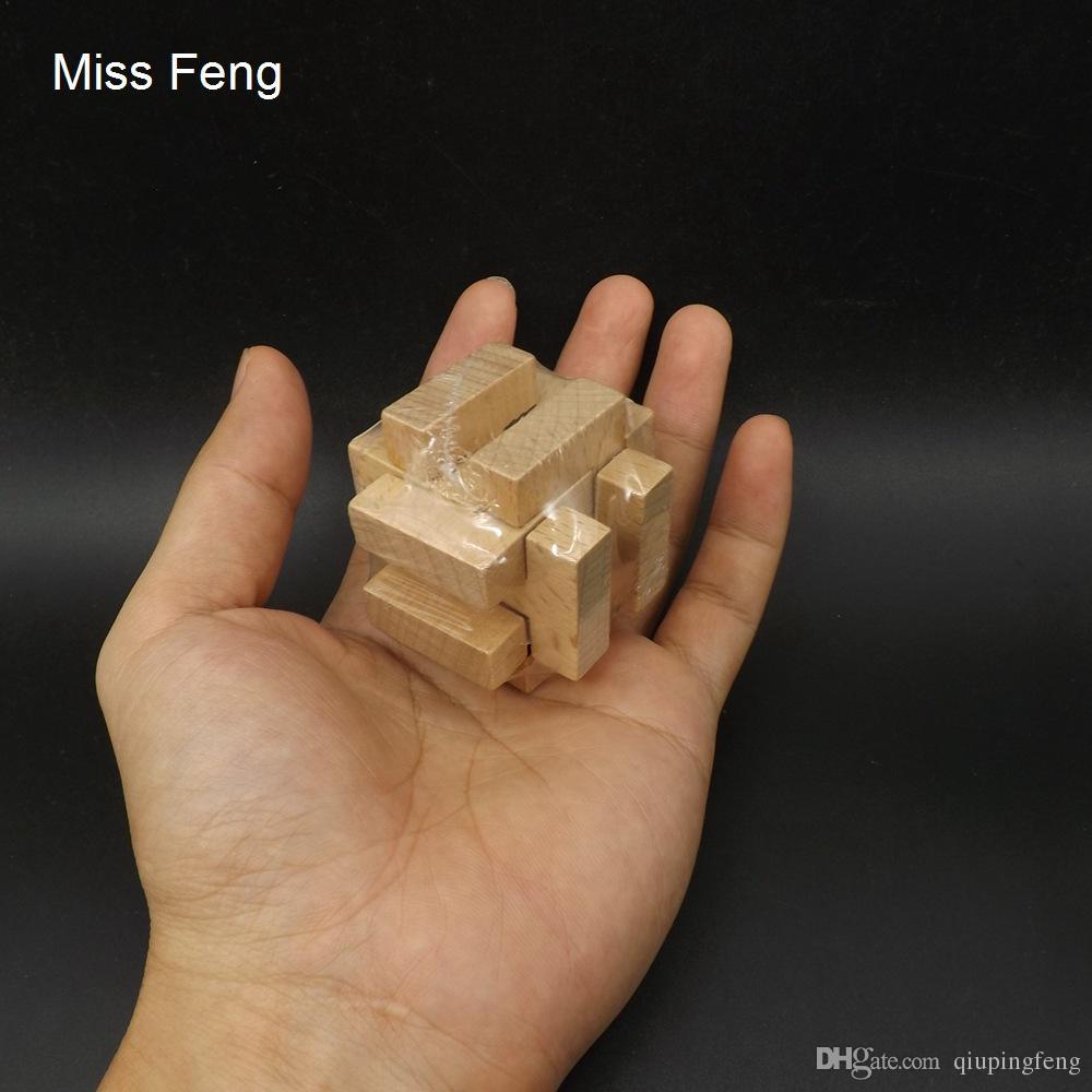 ST036-J / Intellektuelle Klassische Holz Puzzle Spielzeug Geschenk Weihnachten Kong Ming Lock Lernspielzeug Interaktives Spiel