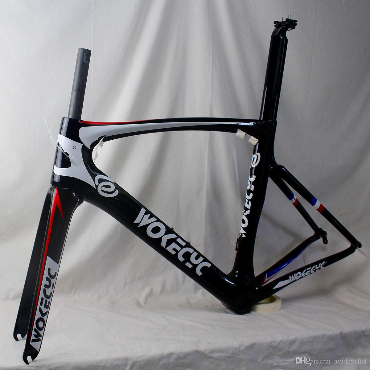 Carbon fiber road bike frames racing bicycle frames cycling frameset glossy finish BB PF30