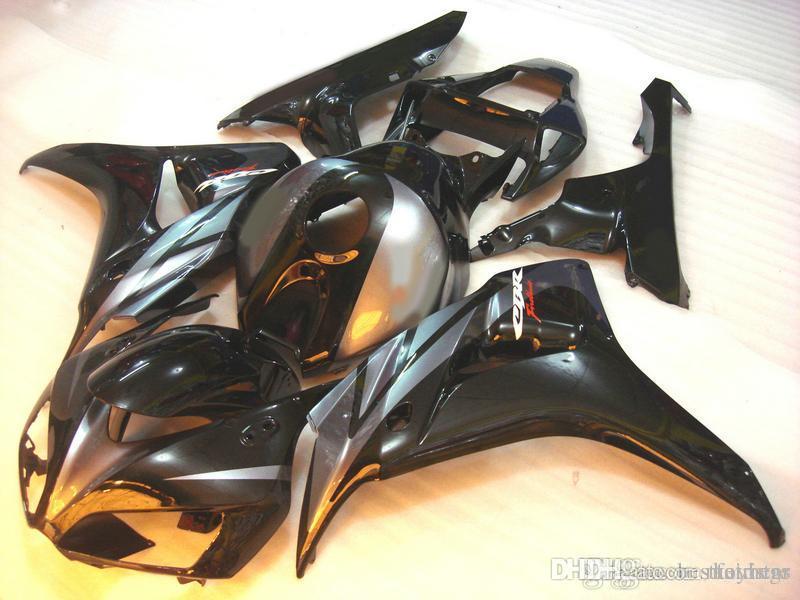 100% fit Verkleidungen für Honda CBR1000RR 2006 2007 schwarz silber Spritzguss Verkleidungssatz CBR 1000 RR 06 07 ER96