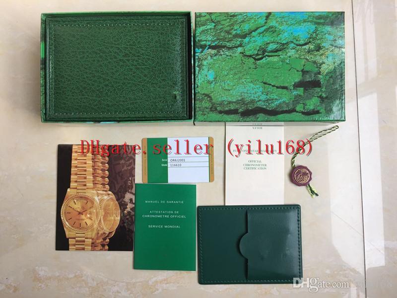 5PCS 럭셔리 고품질 녹색 시계는 원래 상자 GMT 116610은 116500 116710 브로셔 인증서 선물 선물 남자 여자 2020 시계 116600