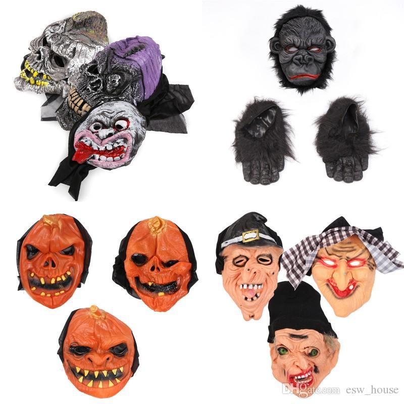 Cadılar Bayramı Kabak Kafatası Korku Hayalet Palyaço Cadı Cadılar Bayramı Cosplay Parti Korku Korku Şeytan Maskeler Maske
