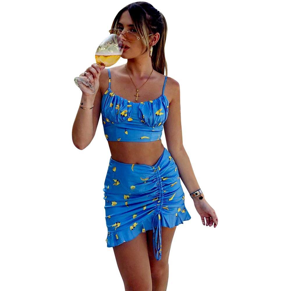 vestido atractivo para las mujeres manera de la falda del traje de baño traje Impreso