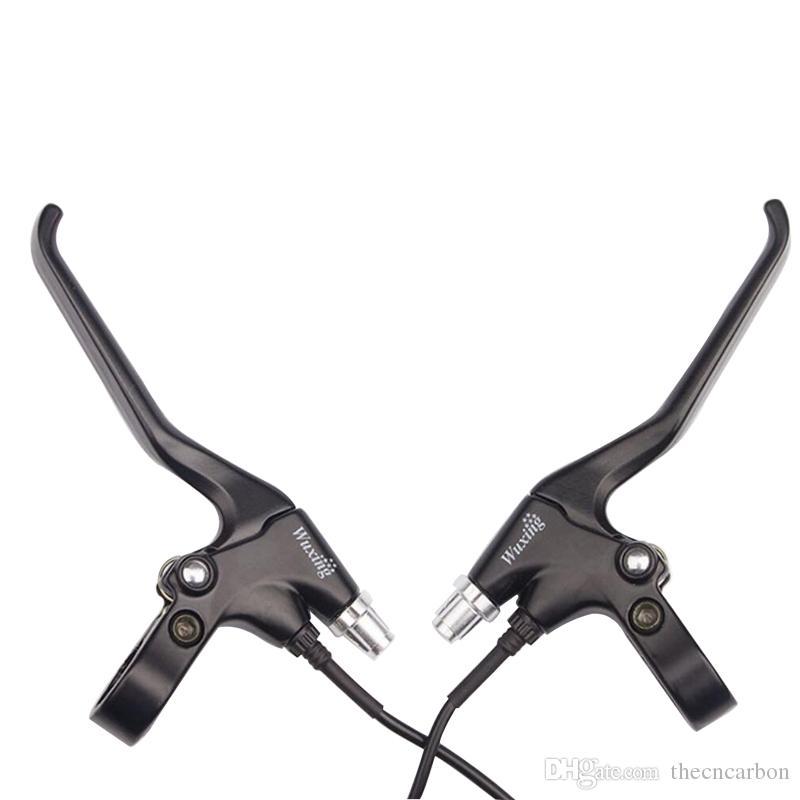 قطع غيار الدراجات متعطشا العالمي wuxing 47pdd الألومنيوم وقوف السيارات وظيفة سكوتر أجزاء الدراجة الكهربائية الفرامل مقبض رافعة