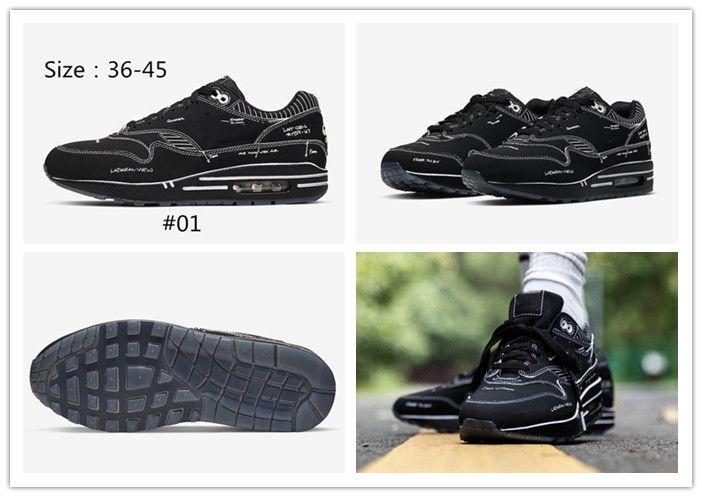 Las mujeres los zapatos de los hombres del zapato corriente Atmos animal de carga 3.0 Diseñador zapatilla de deporte A1 Tinker bosquejo esquemático Plataforma Negro Blanco Rojo deporte atlético