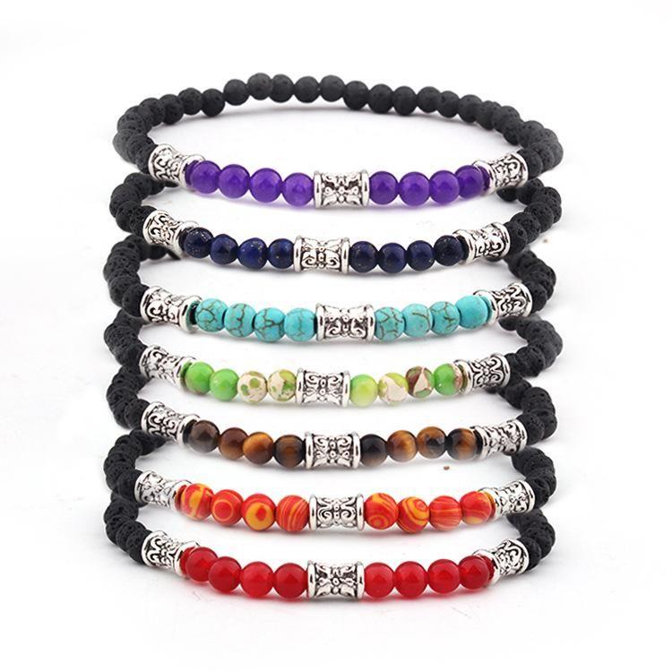 Chanceux Pierre Perles en Perles Bracelet Bracelet réglable Bohême Chakra unisexe femmes Bracelets Belle __gVirt_NP_NN_NNPS<__ collier en pierre naturelle