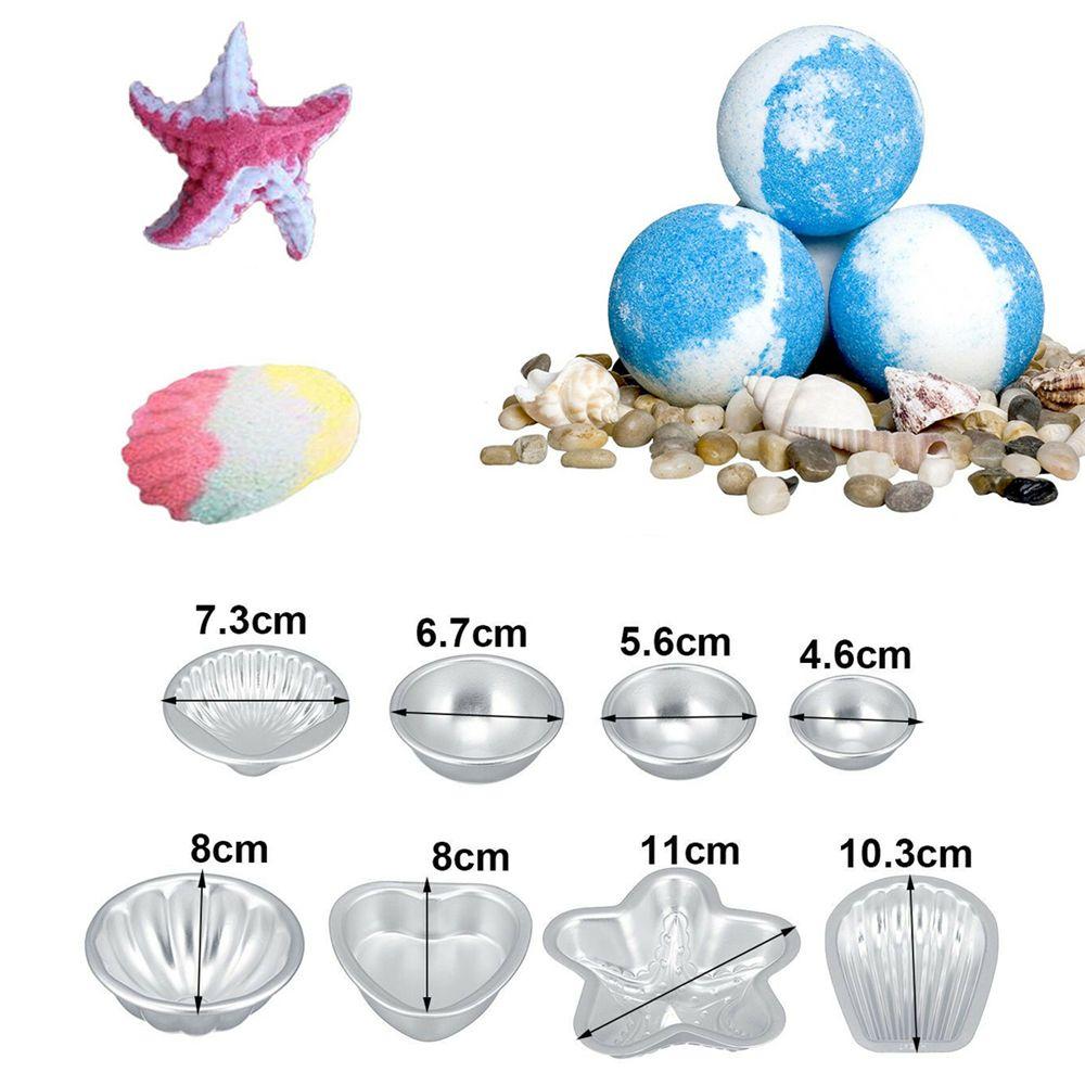 16 шт Набор DIY Ванна Bomb Пресс-форма 8 Размеры Алюминиевого торт Формы для выпечки Форма для мыла Crafting