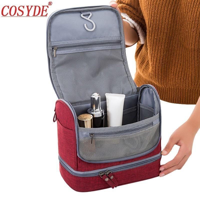 Портативная подвесная туалетная сумка для мужчин сухое и мокрое разделение путешествия косметическая сумка водонепроницаемый Оксфордские женщины макияж организатор OBHKW