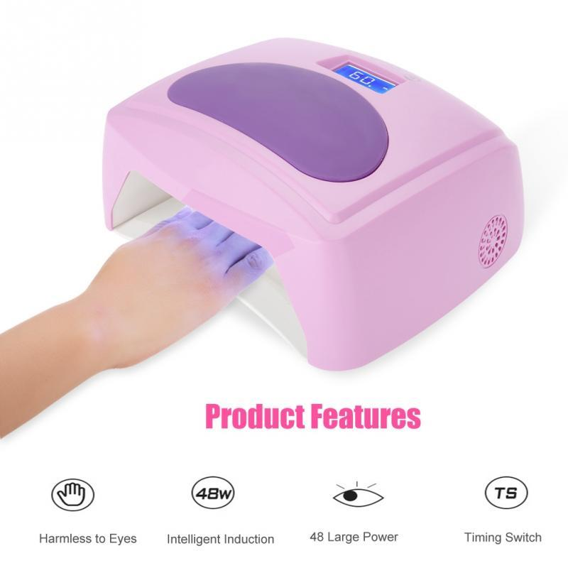 48 Watt UV-LED-Nagellampe mit Wärmeverteilung Einstellbare Taste Smart Sensor Nagelgelpoliermittel Trocknung Maniküre Pediküre Maschine 5