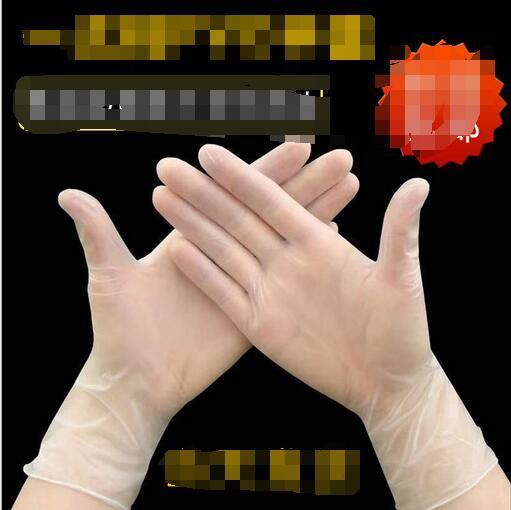 Gants en PVC jetables grande quantité Favorablement véritable vente directe épaissies en caoutchouc haute sans poudre de qualité PVC gants transparents