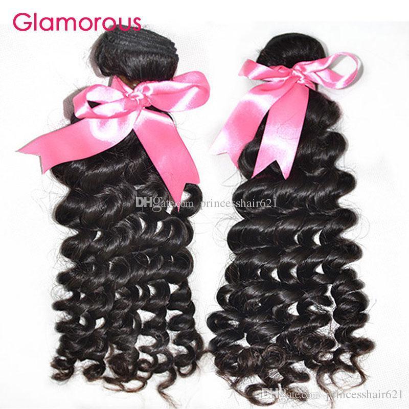 매력적인 브라질 버진 머리카락 2 번들 곱슬 머리 직조 자연 컬러 더블 웨씨 좋은 품질 버진 페루 말레이시아 인도의 머리 위사