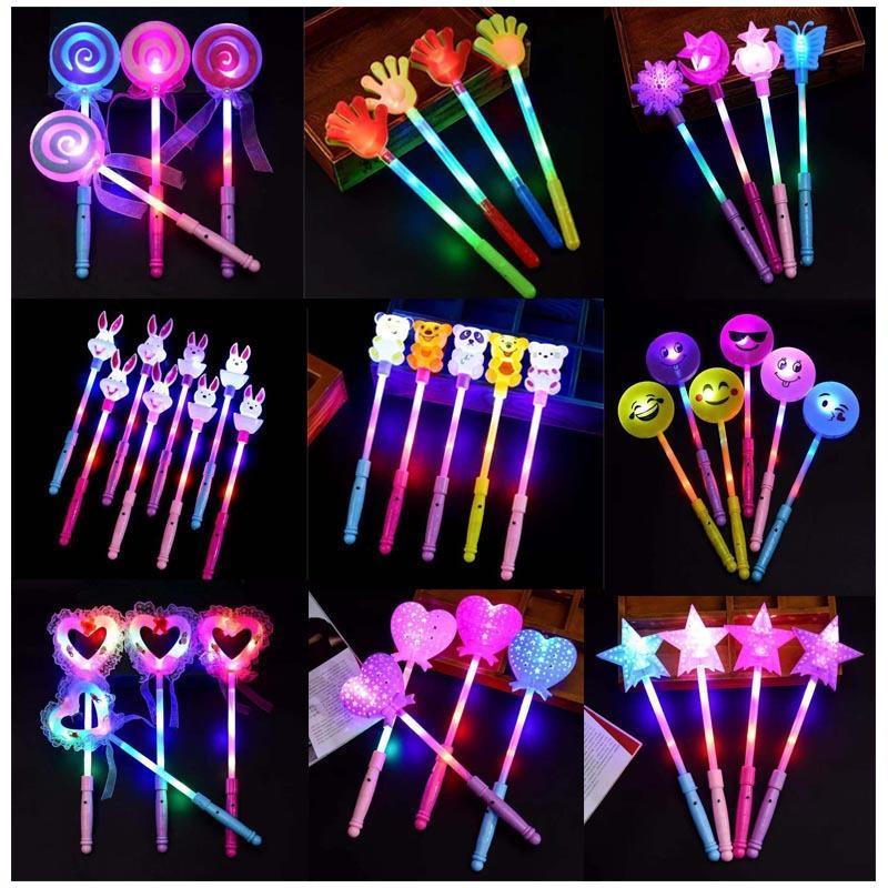Concierto de dibujos animados barra luminosa LED Juguetes para niños Fairy Magic Stick flash Sticks Forma Animal Love LED de luz de juguete GGA2616