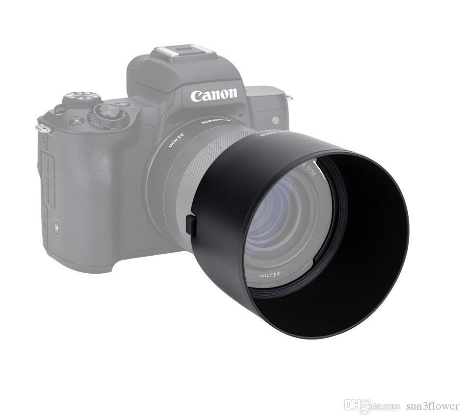 LH-ES60 Gegenlichtblende für Canon EF-M 32mm f / 1.4 STM-Objektiv Ersetzt ES60 Ermöglicht Setzen auf einem 43mm-Filter und einen Objektivdeckel
