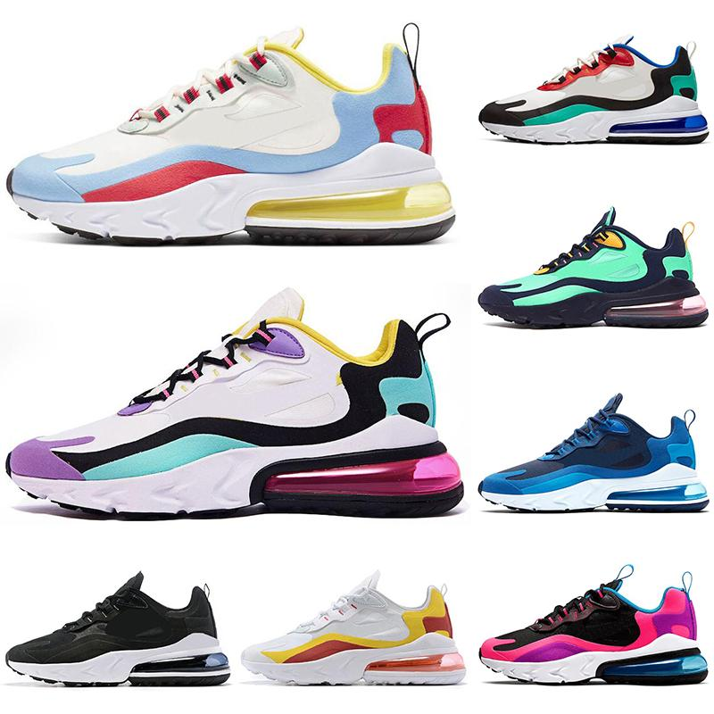 React 2019 Bauhaus Running Shoes For Men Women Optical Beige Right Violet Hyper Jade Pink Mens Designer Trainers Sports Sneakers Size 36-45