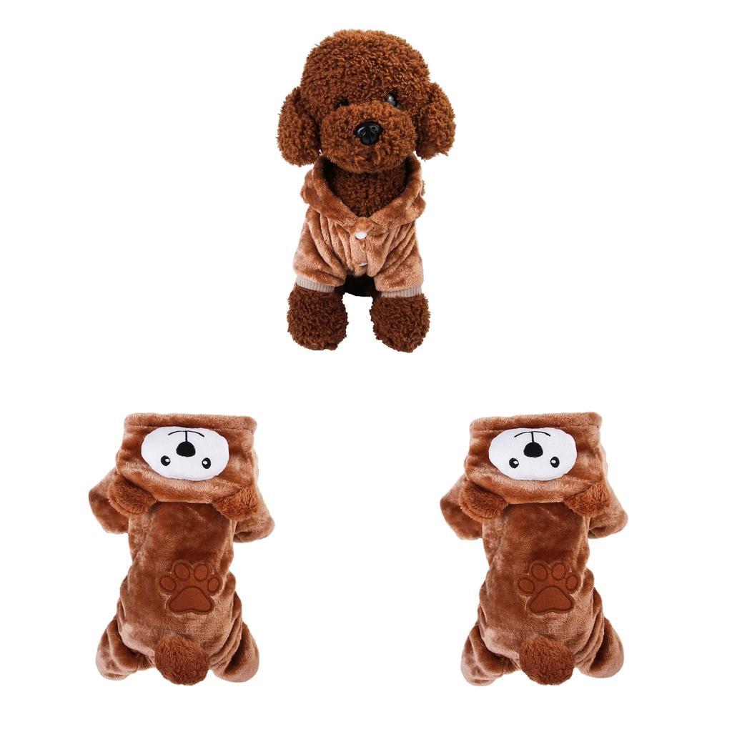 Yavru Köpek Kış Sıcak Coat, Küçük Orta Köpekler, Kahverengi, S L İçin Köpek Yumuşak Ceket Elbise