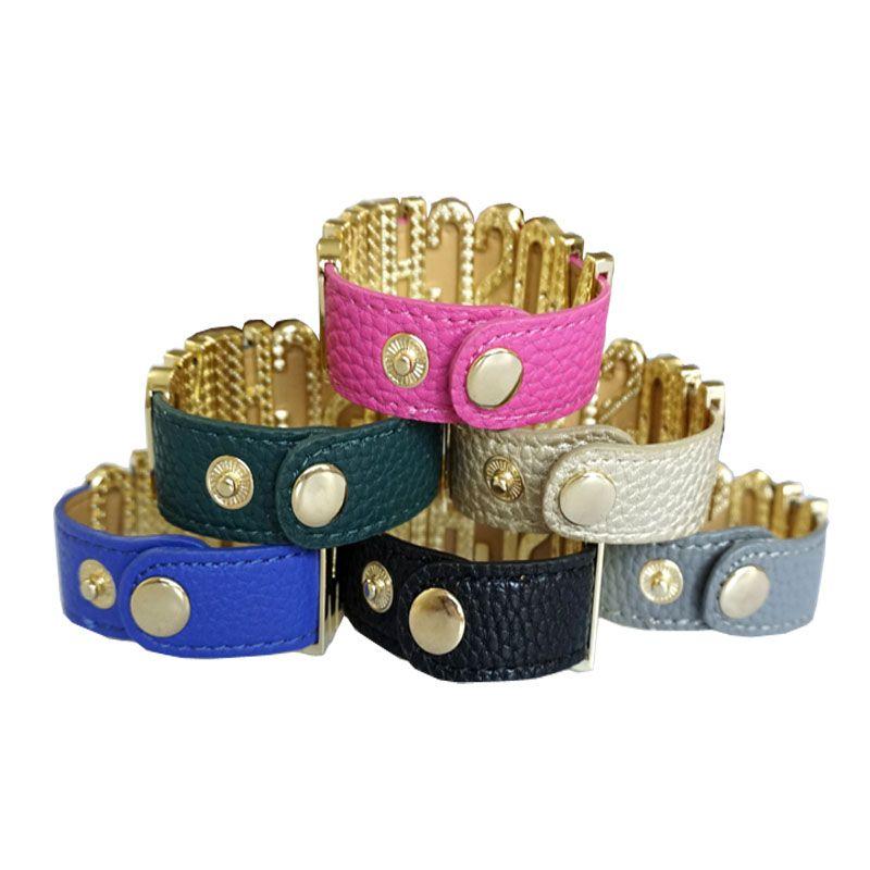 Les hommes et les femmes bracelets en cuir 2020 nouvelle en acier inoxydable de bijoux de mode européens et américains PU