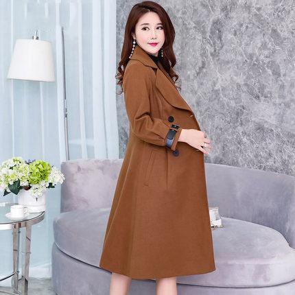 Nova Moda Outono-Inverno Windbreaker Wome Parkas Longo Fino mais o tamanho 3XL roupas femininas Outwear Overcoat LX1340