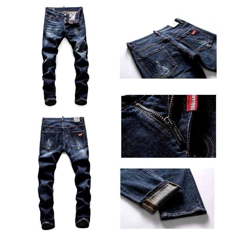 Short en jean pour hommes Simple Fashion Scratch Jeans Couleur Unie Hommes