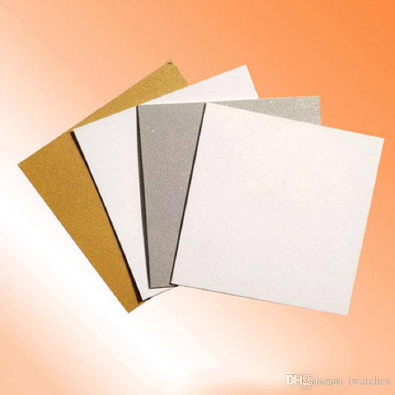 MDF التسامي فارغة DIY نقل الحرارة لوحة الألومنيوم 40 * 60CM 4 ألوان اللوحة الزخرفية فرملس الطباعة المعدنية فارغة لوحة لوحة