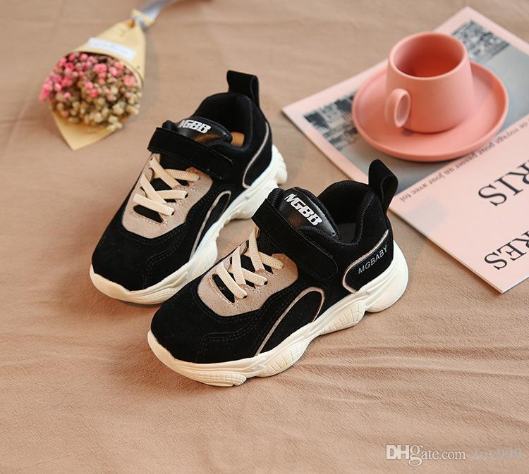 Christmas fashion boys running shoes Tiger Autumn Winter New Male girl Korean child Small white shoes Leisure student motion kids Sneakers