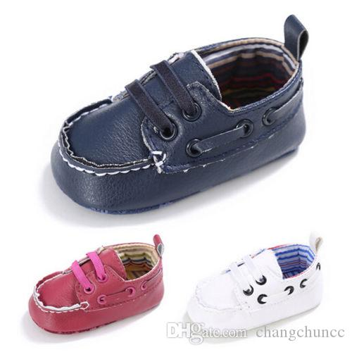 Casual Leather Infant Baby boots Prewalker Boy Girl Baby Soft Sole Crib Kids Shoes