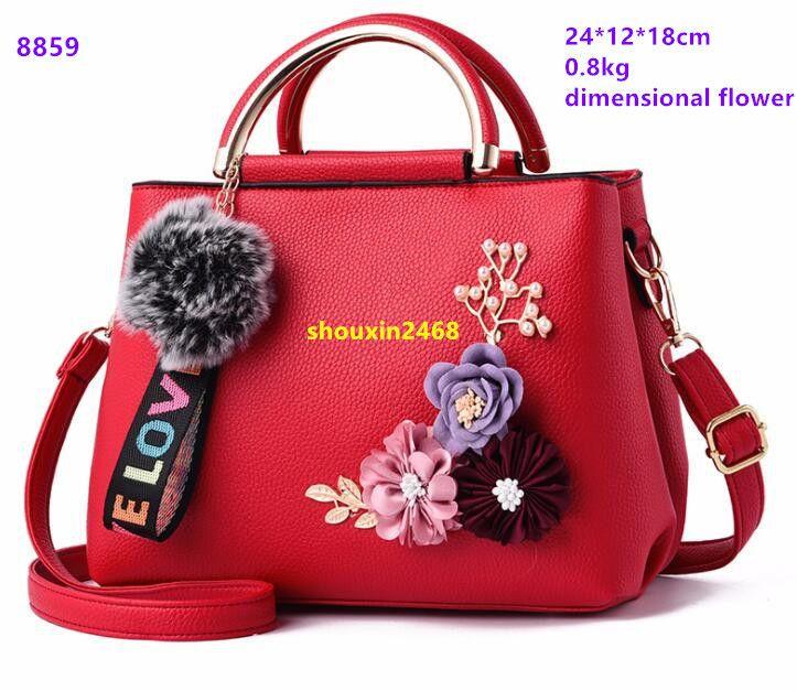 fh6-2#2019 new three-dimensional flower high grade low price handbags handbag shoulder bag wallet