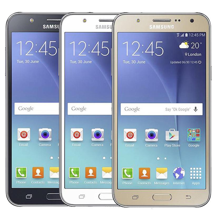 Odnowiony Oryginalny Samsung Galaxy J7 J700F Dual Sim 5.5 Cal Ekran LCD OCTA Core 1.5 GB RAM 16GB ROM 13MP 4G LTE Odblokowany Telefon DHL 10 sztuk