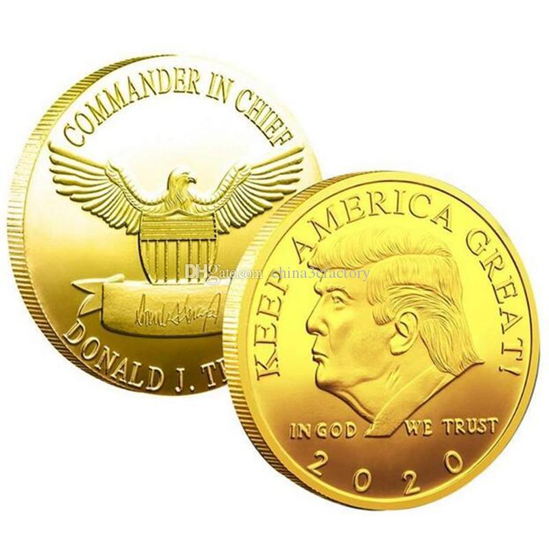 Trump Gold Plate Commemorative Alloy Coin Metal Antique Collection Gift Souvenir