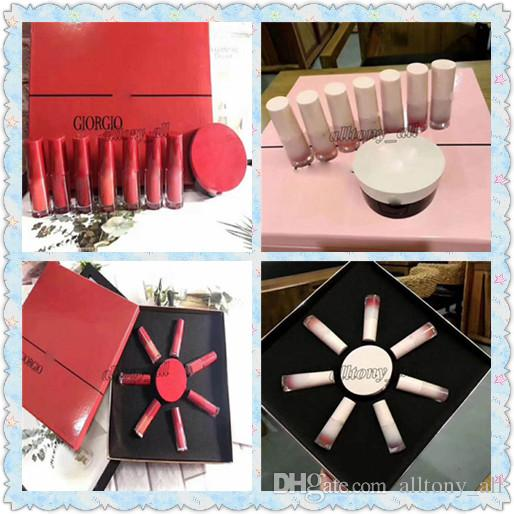 Hot Factory sell Famous A Brand product 2 kinds lipsticks + Air cushion BB ,red and pink colors with high quality