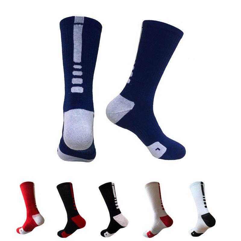 المهنية الجوارب كرة السلة النخبة الأوروبية والأمريكية في الركبة طويلة الجوارب منشفة أسفل الأزياء الرياضية اللياقة البدنية الرجال الجوارب