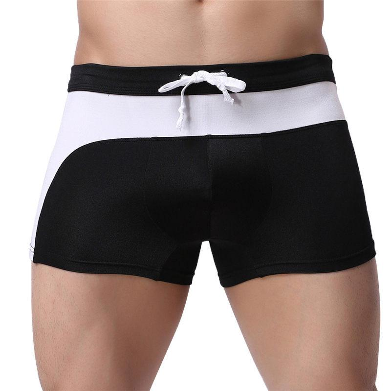 2019 Brand Mens Surf Boardshorts Sexy Men's Boxer Briefs Swimming Swim Shorts Trunks seamless breathable#y10