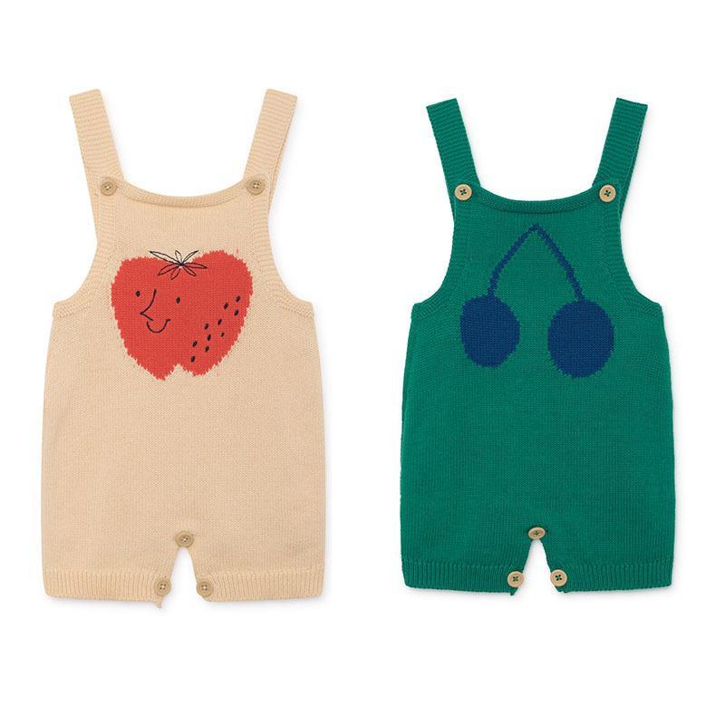 2019 Bobo C ** Baby Kint Mamelucos Verano Marca Infantil Ropa Cereza Appletiny Algodones Bebé Niños Niñas Una pieza Crochet Romper Y19050602