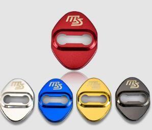 Mazda MS için araba Kapı Kilidi Kapak Amblem Rozetleri Paslanmaz Çelik Kapı Kilidi Koruyucu Kapak Araba Styling 4 adet / grup