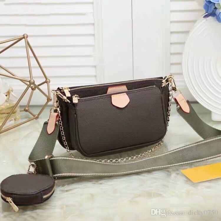 Wholesale women purse chain Shoulder Bags three piece set handbags for women leather lady messenger bag satchel cross body bag package purse