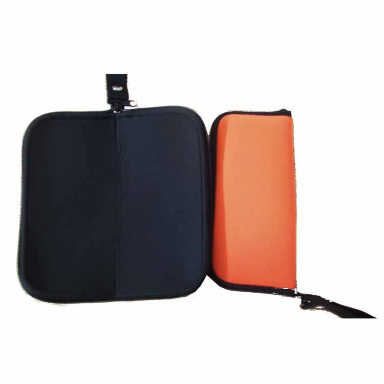 Mouse Bag With Zipper OEM Gaming Mouse Pad Neoprene Storage Pouch Portable Power Cord Mouse Mat Black