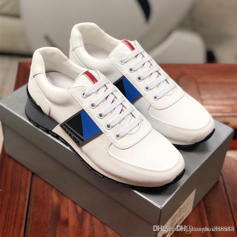 Hochwertige Luxus Herren 19 Designer-Schuhe Moulin Knitgewebe Turnschuhe arbeiten Plattform-Schuhgröße 38-44A1