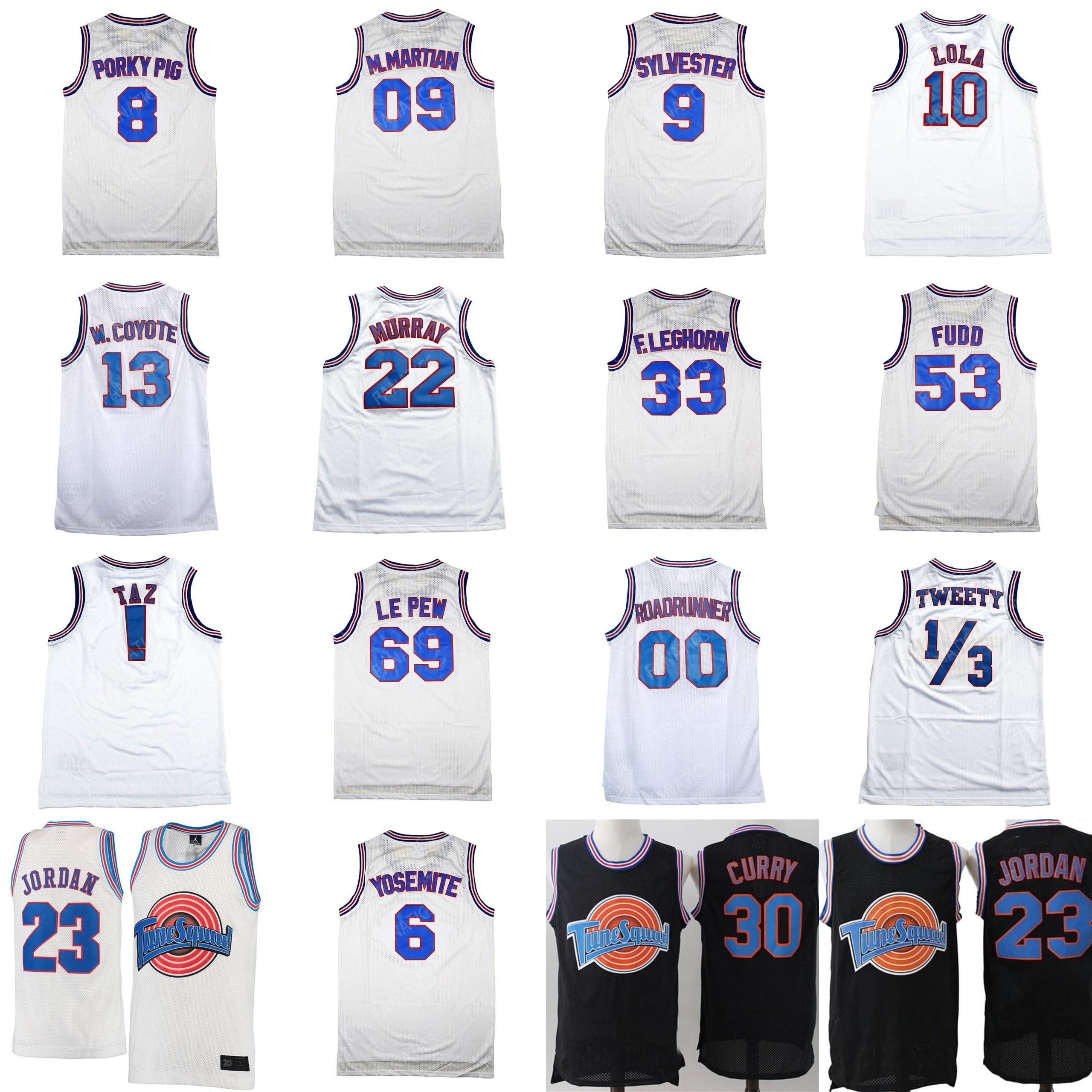 Space Jam Tune Squad Basketball Jersey D.DUCK 2# White Ship From USA Throwback
