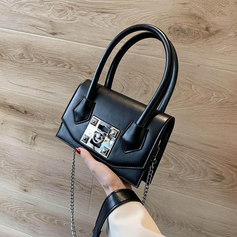 Jin Mantang Small PU Leather Crossbody Bags For Women 2020 Chain Shoulder Messenger Bag Female Chain Handbags and Purses