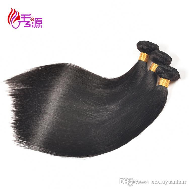 100 Unprocessed Straight Virgin Human Hair Bundles Xiuyuan Good Quality Malaysian Straight Remy Human Hair Extensions For Black Women