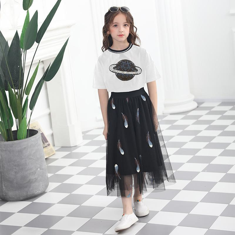 2020 Fashion Girls Outfit Summer Girls Clothing Set Skirts And Tops Little Girl Teenage Girl Clothing Age 6 8 10 12 14 15 Years T200414 From Xue07 30 43 Dhgate Com
